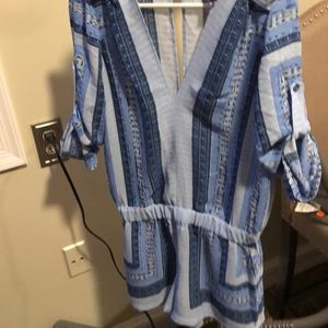 Romper xs BCBG blue like new!!